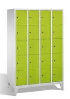 Select Schließfachschrank 1-100286, mit Füßen 4x5 Fächer, Abteilbreite 300mm, | günstig bestellen bei assistYourwork