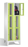 Select Fächerschrank 1-101593, mit Sichtfenstern 6 Fächer, Abteilbreite 300mm, auf Füßen | günstig bestellen bei assistYourwork