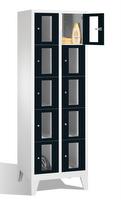 Select Fächerschrank 1-101599, mit Sichtfenstern 10 Fächer, Abteilbreite 300mm, auf Füßen | günstig bestellen bei assistYourwork