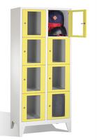 Select Fächerschrank 1-101602, mit Sichtfenstern 8 Fächer, Abteilbreite 400mm, auf Füßen   günstig bestellen bei assistYourwork