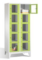 Select Sichtfensterschrank 1-101604, 10 Fächer, Abteilbreite 400mm, auf Füßen | günstig bestellen bei assistYourwork
