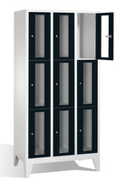 Select Sichtfensterschrank 1-101594, 9 Fächer, Abteilbreite 300mm, auf Füßen | günstig bestellen bei assistYourwork