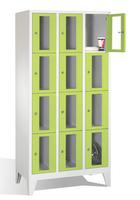 Select Fächerspind 1-101597, mit Sichtfenstern 12 Fächer, Abteilbreite 300mm, auf Füßen | günstig bestellen bei assistYourwork