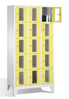 Select Fächerschrank 1-101600, mit Sichtfenstern 15 Fächer, Abteilbreite 300mm, auf Füßen | günstig bestellen bei assistYourwork