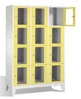 Select Fächerschrank 1-101603, mit Sichtfenstern 12 Fächer, Abteilbreite 400mm, auf Füßen | günstig bestellen bei assistYourwork