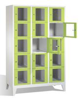 Select Fächerschrank 1-101605, mit Sichtfenstern 15 Fächer, Abteilbreite 400mm, auf Füßen | günstig bestellen bei assistYourwork