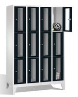 Select Fächerschrank 1-101595, mit Sichtfenstern 12 Fächer, Abteilbreite 300mm, auf Füßen | günstig bestellen bei assistYourwork