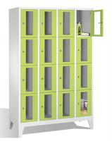 Select Fächerschrank 1-101598, mit Sichtfenstern 16 Fächer, Abteilbreite 300mm, auf Füßen | günstig bestellen bei assistYourwork