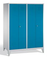 Select Garderobenschrank 1-100252 auf Füßen, 4 Abteile für 2 Personen, Abteilbreite 400mm | günstig bestellen bei assistYourwork