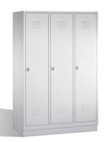 SelectClassic Spind 1-100235, auf Sockel 3 Abteile, Abteilbreite á 400mm | günstig bestellen bei assistYourwork
