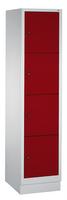 Schließfachschrank 8020-124, mit Sockel 4 Fächer, Abteilbreite 400mm, | günstig bestellen bei assistYourwork