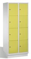 Select Garderobenfächerschrank 1-100297 mit Sockel, 2x4 Fächer, Abteilbreite 400mm, | günstig bestellen bei assistYourwork