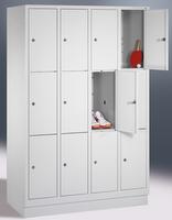 Select Schließfachschrank 1-101003, mit Sockel 4x3 Fächer, Abteilbreite 300mm, | günstig bestellen bei assistYourwork