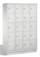 Select Schließfachschrank 1-100296, mit Sockel 4x5 Fächer, Abteilbreite 300mm, | günstig bestellen bei assistYourwork
