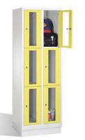 Select Sichtfensterschrank 1-101606, 6 Fächer, Abteilbreite 300mm, auf Sockel | günstig bestellen bei assistYourwork