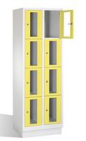 Select Fächerschrank 1-101609, mit Sichtfenstern 8 Fächer, Abteilbreite 300mm, auf Sockel | günstig bestellen bei assistYourwork