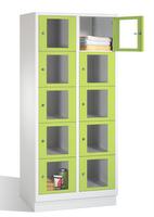 Select Fächerschrank 1-101617, mit Sichtfenstern 10 Fächer, Abteilbreite 400mm, auf Sockel | günstig bestellen bei assistYourwork