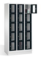 Select Sichtfensterschrank 1-101613, 15 Fächer, Abteilbreite 300mm, auf Sockel | günstig bestellen bei assistYourwork
