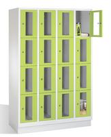Select Fächerschrank 1-101611, Sichtfenster 16 Fächer, Abteilbreite 300mm, auf Sockel | günstig bestellen bei assistYourwork
