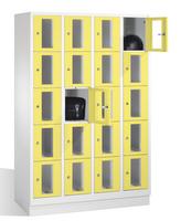 Select Fächerschrank mit Sichtfenstern 1-101614 20 Fächer, Abteilbreite 300mm, auf Sockel | günstig bestellen bei assistYourwork