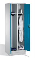 Select Kleiderspind 1-100255 auf Sockel, 2 Abteile für 1 Person, Abteilbreite 300mm | günstig bestellen bei assistYourwork