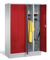 Select Kleiderspind 1-100256 auf Sockel, 4 Abteile für 2 Personen, Abteilbreite 300mm | günstig bestellen bei assistYourwork