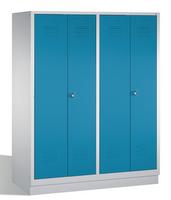 Select Garderobenschrank 1-100258 auf Sockel, 4 Abteile für 2 Personen, Abteilbreite 400mm | günstig bestellen bei assistYourwork