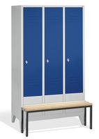 Select Spind 1-100241 mit vorgebauter Sitzbank, 3 Abteile, Abteilbreite 400mm | günstig bestellen bei assistYourwork