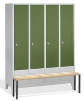 Select Spind 1-100242 mit vorgebauter Sitzbank, 4 Abteile, Abteilbreite 400mm | günstig bestellen bei assistYourwork