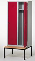 Select Spind 1-100246 mit untergebauter Sitzbank, 2 Abteile, Abteilbreite 400mm | günstig bestellen bei assistYourwork