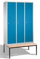 Select Spind 1-100247 mit untergebauter Sitzbank, 3 Abteile, Abteilbreite 400mm | günstig bestellen bei assistYourwork