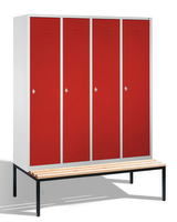 Select Garderobenspind 1-100248 mit untergebauter Sitzbank, 4 Abteile, Abteilbreite 400mm | günstig bestellen bei assistYourwork
