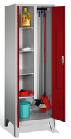 Evolo Raumpflegeschrank 49110-00 auf Füßen, 2 Abteile, HxBxT 1850x600x500mm | günstig bestellen bei assistYourwork