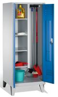 Evolo Raumpflegeschrank 49110-02, auf Füßen, 2 Abteile, HxBxT 1850x800x500mm | günstig bestellen bei assistYourwork