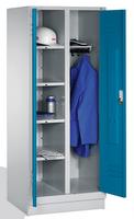 Select Wäsche--Garderobenspind 1-100304 auf Sockel 2 Abteile mit zueinanderschlagenden Türen | günstig bestellen bei assistYourwork