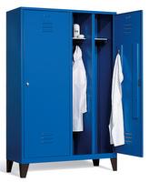 Kleiderspind 8210-40 mit Füßen, für 2 Personen 4 Abteile mit je einer Tür über 2 Abteile | günstig bestellen bei assistYourwork