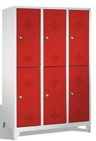 Select Fächerspind 1-100267, doppelstöckig, mit Füßen 3x2 Abteile übereinander, Abteilbreite 400mm | günstig bestellen bei assistYourwork