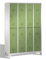 Select Schließfachschrank 1-100265, mit Füßen, 4x2 Abteile, Abteilbreite 300mm   günstig bestellen bei assistYourwork