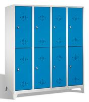 Select Spindschrank 1-100268, doppelstöckig, mit Füßen 4x2 Abteile übereinander, Abteilbreite 400mm | günstig bestellen bei assistYourwork