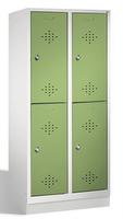 Select Kleiderspind 1-100272, doppelstöckig, mit Sockel 2x2 Abteile, Abteilbreite 400mm | günstig bestellen bei assistYourwork