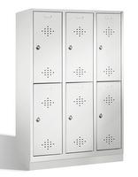 Select Fächerspind 1-100273, doppelstöckig, mit Sockel 3x2 Abteile , Abteilbreite 400mm | günstig bestellen bei assistYourwork