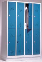 Select Schließfachspind 1-100271, doppelstöckig, mit Sockel 4x2 Abteile, Abteilbreite 300mm | günstig bestellen bei assistYourwork