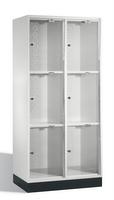 Select Intro Großraum-Schließfachschrank 1-100484 Acrylglastüren, 6 Fächer, 1750mm hoch   günstig bestellen bei assistYourwork