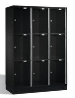 Select Intro Großraum-Schließfachschrank 1-100485 Acrylglastüren, 9 Fächer, 1750mm hoch | günstig bestellen bei assistYourwork