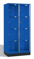 Select Intro Großraum-Schließfachschrank 1-100486 Acrylglastüren, 8 Fächer, 1750mm hoch | günstig bestellen bei assistYourwork