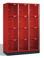 Select Intro Großraum-Schließfachschrank 1-100487 Acrylglastüren, 12 Fächer, 1750mm hoch | günstig bestellen bei assistYourwork