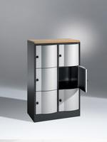 Select Resisto Schließfachschrank 1-100492 2x3 Fächer, HxBxT 1250x770x540mm | günstig bestellen bei assistYourwork