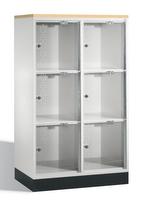 Select Intro Großraum-Schließfachschrank 1-100488 Acrylglastüren und DBS-Abdeckplatte | günstig bestellen bei assistYourwork