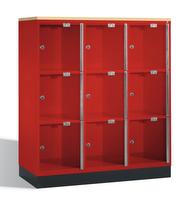 Select Intro Großraum-Schließfachschrank 1-100489 Acrylglastüren und DBS-Abdeckplatte | günstig bestellen bei assistYourwork