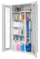 ErgoPlus® Putzmittelschrank mit Sichtfenstertüren H x B x T 1950 x 1000 x 500 mm | günstig bestellen bei assistYourwork